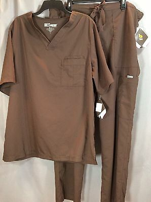 Mens Greys Anatomy Scrubs Size L Top and Utility Pants color Brown New