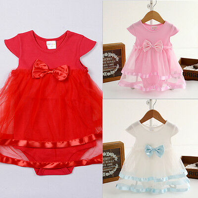 Toddler Newborn Baby Girl Dress Romper Casual Party Tulle Dress Clothing 0-2Y NI