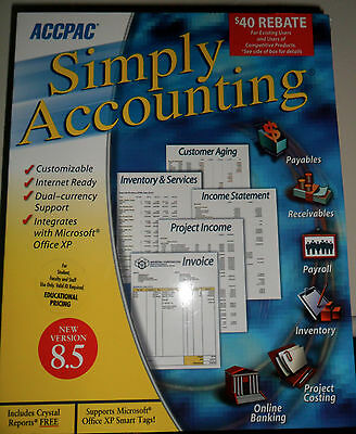 New Sealed Accpac Simply Accounting 8.5 - Microsoft Windows 95, 98, 2000