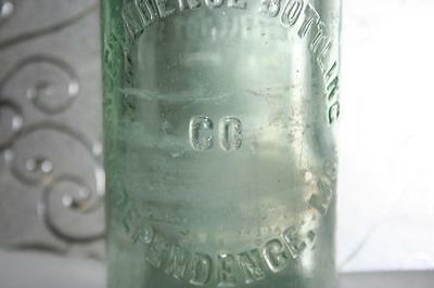 Very Rare 1926 Polly's Pop Independence Bottling Company Embossed Soda Bottle