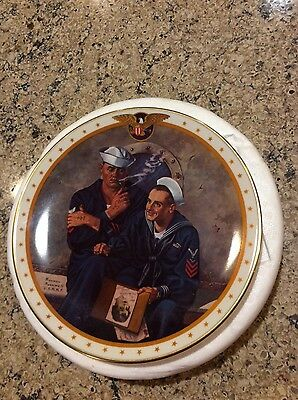 REMINISCING by NORMAN ROCKWELL - HOME OF THE BRAVE COLL. COA collectors plate