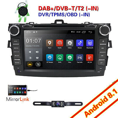 """Android 6.0 Quad Core 8"""" Touch 2DIN Car Stereo DVD GPS Radio for TOYOTA Corolla"""