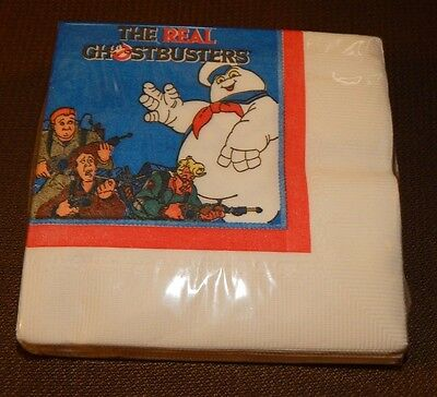 1984 The Real Ghostbusters Party Napkins MINT IN PACKAGE FREE SHIPPING
