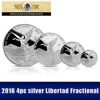 "2016 4pc silver Libertad Proof      ""Treasure Coin of Mexico™"" set"