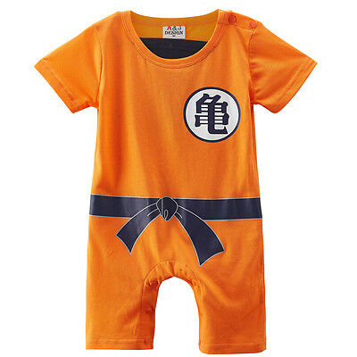 Christmas Newborn Baby Boys Dragon Ball Z Romper Goku Costume Short Sleeve