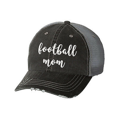 e3882c0ea JUDITH MARCH DISTRESSED SIGNATURE In Navy Blue Football 🏈 Mama HAT ...