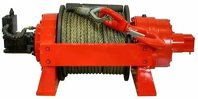 Hydraulic Winch - 33,000 LBS Cap - 15 Tons - Air & Manual Clutch - Commercial