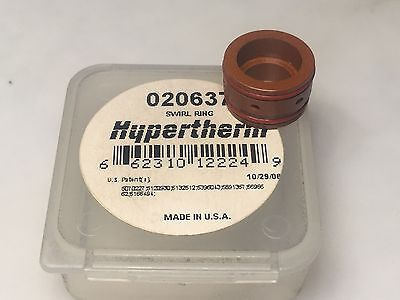 Hypertherm 020637 15 - 100 Amp Oxygen Swirl Ring For PAC 180 Plasma Torch