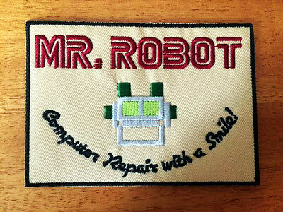 Retro MR ROBOT tv Fsociety SEW IRON ON PATCHES patch bag hat clothing