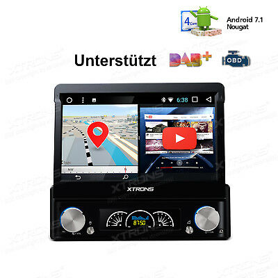 Android 6.0 Autoradio Mit Navi Gps Wifi Obd2 Dab+ Touchscreen Usb Dvd 1 Din Rds