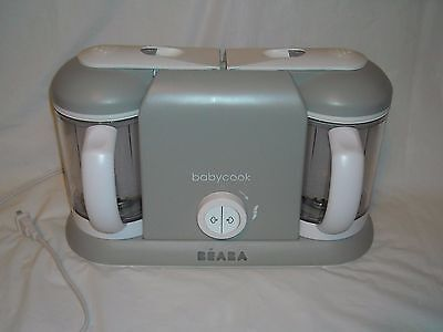 Beaba Babycook Plus Pro 2X Cloud Baby Food Steam Cooker and Blender BEA011A
