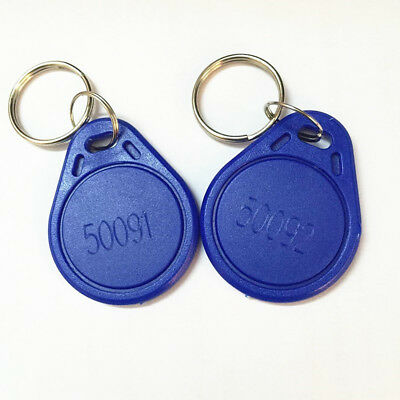 10pcs 125kHz Keyfobs Proximity Fob Works With Prox Key 1346 26-Bit H10301