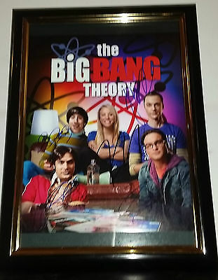 Hand Signed By All 5 Main Cast With Coa - Framed Big Bang Theory 8X10 Photo
