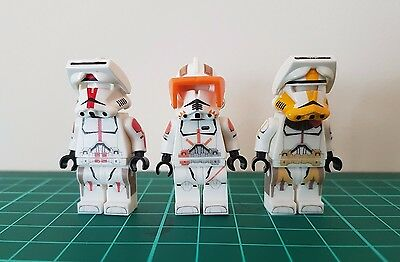 LEGO STAR WARS Custom Clone Cody, Bly & Deviss Commander EXCLUSIVE Collection
