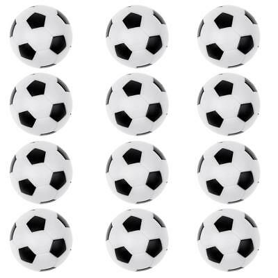 12pcs Black & White Soccer Table Football Foosball Balls Replacement Balls 36mm