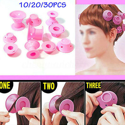 30PC Hair curler Tool Spiral Roller Silicone Soft Curlers Hair DIY No heat Magic