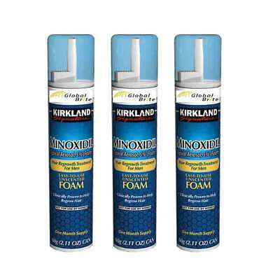 3 Month Supply - Kirkland Signature Minoxidil Hair Regrowth Treatment Foam