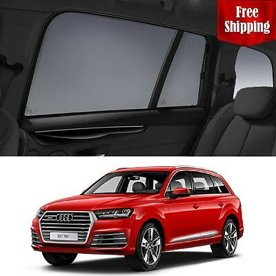 AUDI Q7 4M 2015-2017 Magnetic Rear Side Car Window Sun Shade For baby