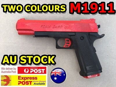 M1911 Pistol Prop Costume Toy Gun With Working Slide Foam Dart Bullets Target