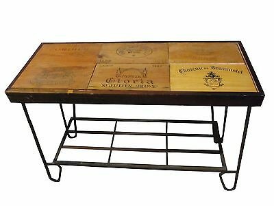 Vintage Wrought Iron French Wine Table Wine Crate Panels