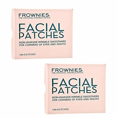 2 X FROWNIES Facial Patches for Wrinkles on Eyes & Mouth Corners 1 Box,144pcs