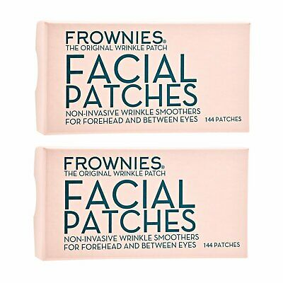 2 X FROWNIES Facial Patches for Wrinkles on Forehead & Between Eyes 1Box,144pcs