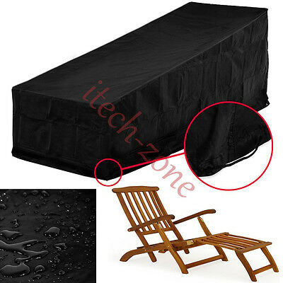 Outdoor Waterproof Rain UV Wind-proof Covers for Sun Bench Lounger Chairs Garden