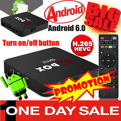 New SM5 Quad Core Android 6.0 TV Box Media Player 16.1 ULTRA Sports Movies HD UK