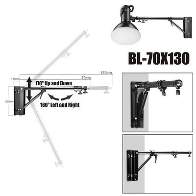UK JINBEI Adustable Wall Ceiling Mount Light Stand 170° Up Down 160° Left Right