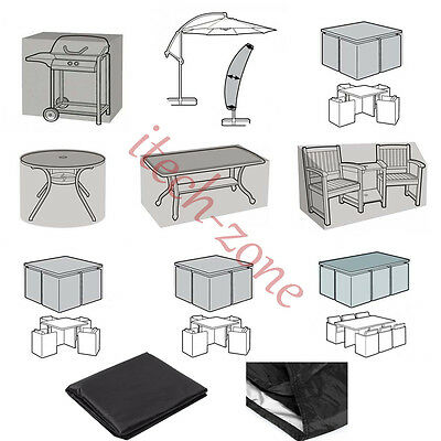 Heavy Duty Waterproof Cover Outdoor Furniture Parasol Table Bench Rain Protector