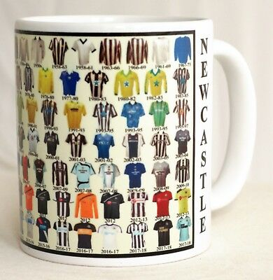 Newcastle Mug Football shirt history New Gift