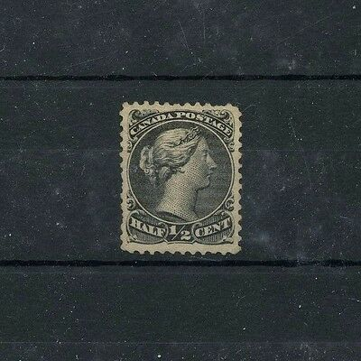 #21 half cent LARGE QUEEN VF MNH, very minor gum spots norm Cat $375 Canada mint
