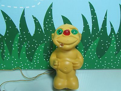 """Vintage 1968 Yellow Rubber Horsman Troll - 4"""" - Marked - Very Rare"""