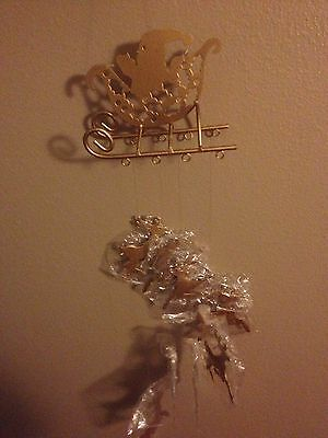 House Of Lloyd Santa's Sleigh Wind Chime Christmas Around The World Vintage NIB
