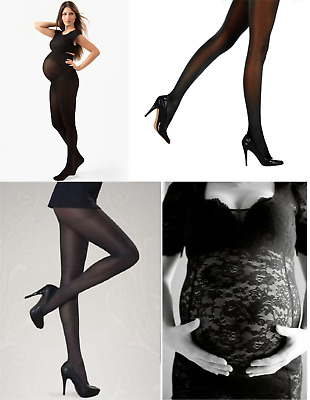 60 40 Denier Black Grey Maternity Pregnancy Tights  Comfortable Durable Quality