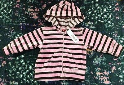 Sprout Baby Girls Velour Jumper Hoodie Size 0 New