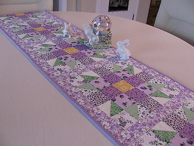 Handmade Quilted Spring Berries and Blossoms Table Runner