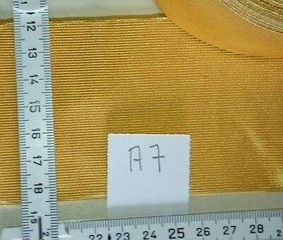 Germany Epaulettes metal base material 70mm wide golden metal braid    80cm  A7