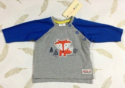 Jack & Milly Baby Boys Long Sleeve Top 000 New