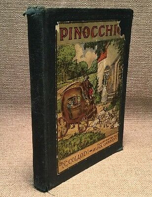 Vintage 1916 Pinocchio The Tale of a Puppet Hardcover Book by C Collodi