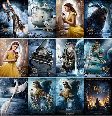 12pc Beauty and the Beast Movie 2017 Postcards Promo Cards Photo Poster Card B