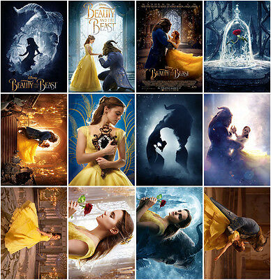 12pc Beauty and the Beast Movie 2017 Postcards Promo Cards Photo Poster Card C-3