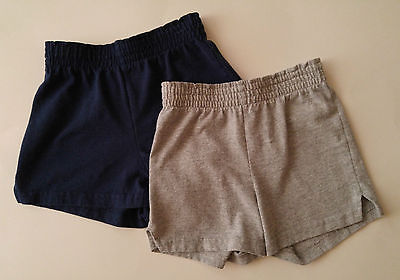 Soffe Girls XS Size 3-4  Navy Blue and Gray Active Shorts Lot Of Two