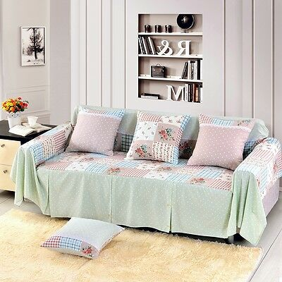 Floral Cotton Blend Slipcover Sofa Cover OUKl Protector for 1 2 3 4 seater hynx
