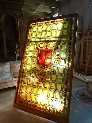 Huge Stained Glass Panel - Spectacular Craftsmanship and Pattern - 8 Feet High