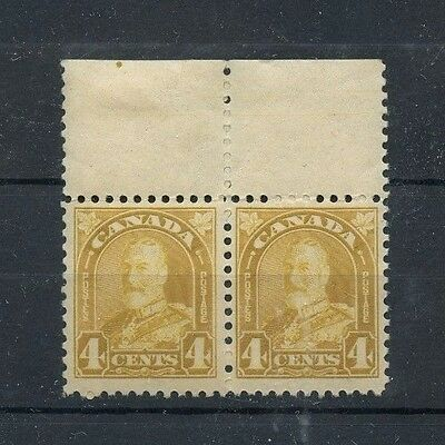 #168 pair 4c yellow bistre arch issue see scans F-VF MNH Cat $30-100 Canada mint