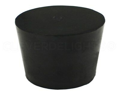 Solid Rubber Stopper - Size 9 - Black - 45mm x 37mm x 30mm Long - Lab #9