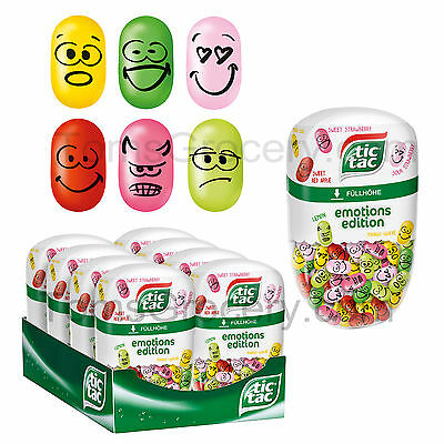 TIC TAC Emotions Limited Edition Big Pack 200 Dragees 6 Flavors 98g 3.5oz
