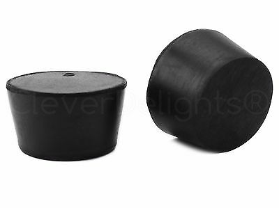 3 Pack- Solid Rubber Stoppers - Size 9 - 45mm x 37mm x 30mm Long - Lab #9