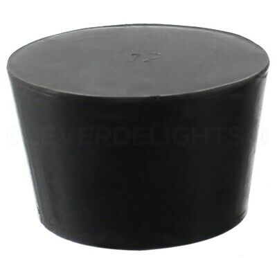 Solid Rubber Stopper - Size 12 - Black - 62mm x 51mm x 38mm Long - Lab #12
